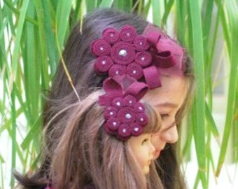 My American Girl Doll & Me Hair Clips / Brooch Pins / Barrettes. Plum Aubergine Pearl, M2M Matilda Jane / Persnickety, Mother Daughter Kid