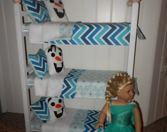 American Made 18 Doll Triple Bunkbed Triple Bunk Bed Fits