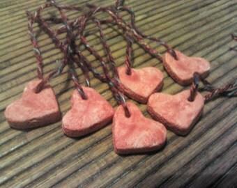 6 Handmade Salt Dough Gift Tags Minimalist