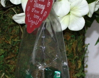 "Clear Candy Bags, 2.5"" x 2"" x 6"", Cookie Bags, Gift Bags, Baby Shower Favors, Wedding Favor Bags, Food Safe Bags, Party Supplies"