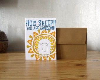 Holy Sheep! You are Awesome! Greeting Card Thank You Card