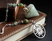 Green Aventurine Pendulum. Jade Pendulum. Green Pendulum. Dowsing Pendulum. Metaphysical Divination Tool. New Age Healing Pendulum.
