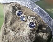 Lavender Swarovski Ring and Earrings, Lavender Ring, Lavender Earrings, Swarovski Ring, Swarovski Earrings, Swarovski Crystal Jewelry Set