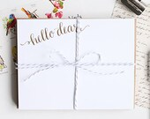 note card set of 12 *SPECIAL* : Hello Dear