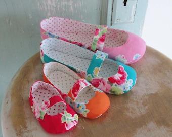 SALE Shoe Sewing Pattern.  Mary Jane Flats Pattern Set. Newborn to women's size 11. PDF Shoe Sewing Pattern.