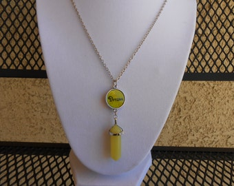 "Yellow Jade ""Dream"" Necklace"