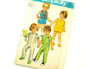Child Size 1 Jumpsuit in Two Lengths and Bubblesuit 70s Simplicity Pattern 9290 / Complete