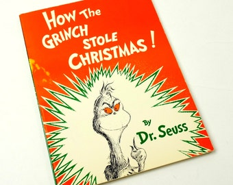 How the Grinch Stole Christmas by Dr. Seuss 1985 Oversized Paperback / Vintage Childrens Book