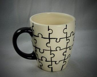 Puzzle Pattern Ceramic Mug
