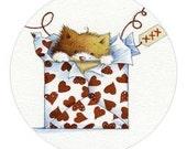 Envelope Sealers -Love Kitty