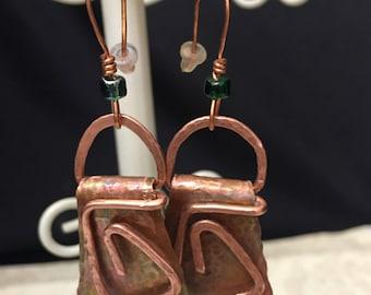 Copper Scrap Earrings