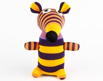 Toddler Birthday Gift Handmade Sock Mouse Stuffed Animal Doll Baby Toys