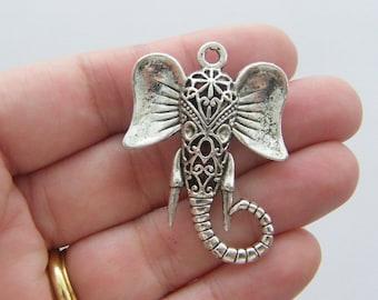 1 Elephant pendant tibetan silver A504