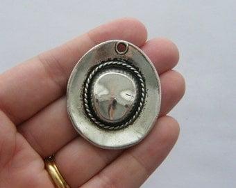 BULK 10 Cowboy hat charms tibetan silver CA23 - SALE 50% OFF