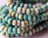 3x5mm Rondelle - Mint Mix - Turquoise Mix - Czech Glass Beads - Fire Polished Beads - 3x5mm Donut Mix - BeadSoup