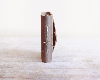 Pocket Journal, Leather, Mini Handbound Journal