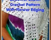 Feminine White Shawl Crochet Pattern