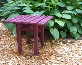 Colorful Pine wood Side Table Square Top for Home & Garden in 15 colors handcrafted by Laughing Creek
