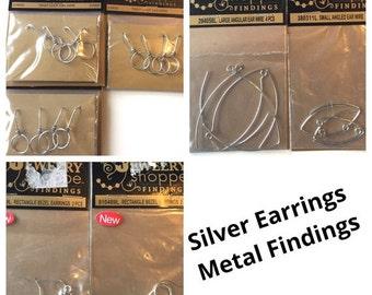 Silver Earrings Metal Findings for Jewelry Making Supplies Hooks Ear Wires Bezel The Jewelry Shoppe