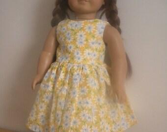 American Girl sunflower dress