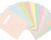 Combo Pack-Printable BLANK DIVIDER Pages and Planner File TABS - Digital File Instant Download- floral, polka dots, pastels Home Management
