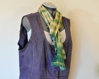 "Plum 22/24W Denim VEST - Purple Hand Dyed Upcycled Venezia Denim Corset Vest - Adult Womens Plus size Extra Large XL (50"" chest)"