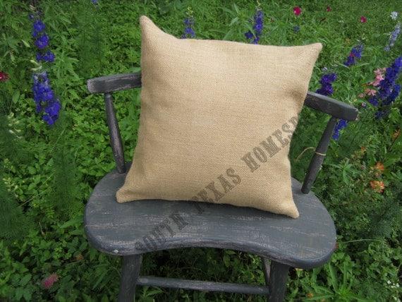 Items Similar To 30 Natural Burlap Pillow Covers 15 X 15