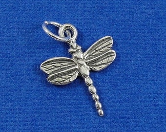 Dragonfly Charm - Sterling Silver Dragonfly Charm for Necklace or Bracelet