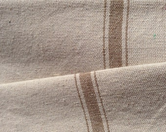 Grain Sack Fabric Tan Stripe Vintage Inspired Sold By The Yard Feed Sack Fabric Flour Sack Fabric Gunny Sack Fabric Grain Sack Reproduction