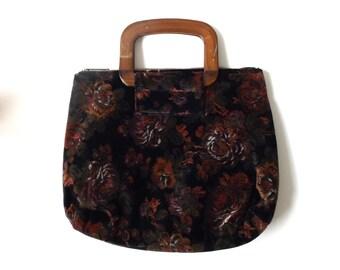 Vintage Basket Purse Bamboo Handbag Clutch By