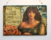 Collage wall hanging, Vintage Style, OOAK