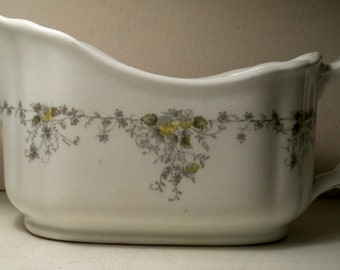 T & R Boote England Ironstone Antique Gravy with Floral Design Waterloo Potteries