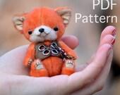 Mini miniature fox bear e-pattern PATTERN PDF Zorro by Tatiana Scalozub