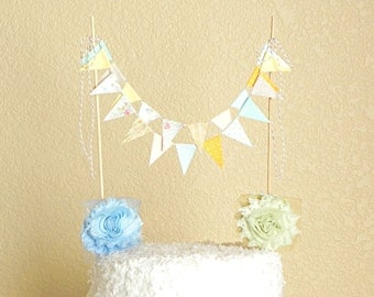 Baby Shower Cake Topper Boy / Baby Shower Cake Banner / Cake Bunting / Mint and Gold Baby Shower / Mint and Gold Wedding / Boy CakeTopper