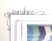 Unique 'sunshine' Door Sign,  Unique Over the Door 'sunshine' Wall Word