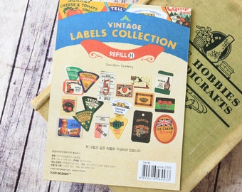 Refill H Vintage Labels Collection stickers set