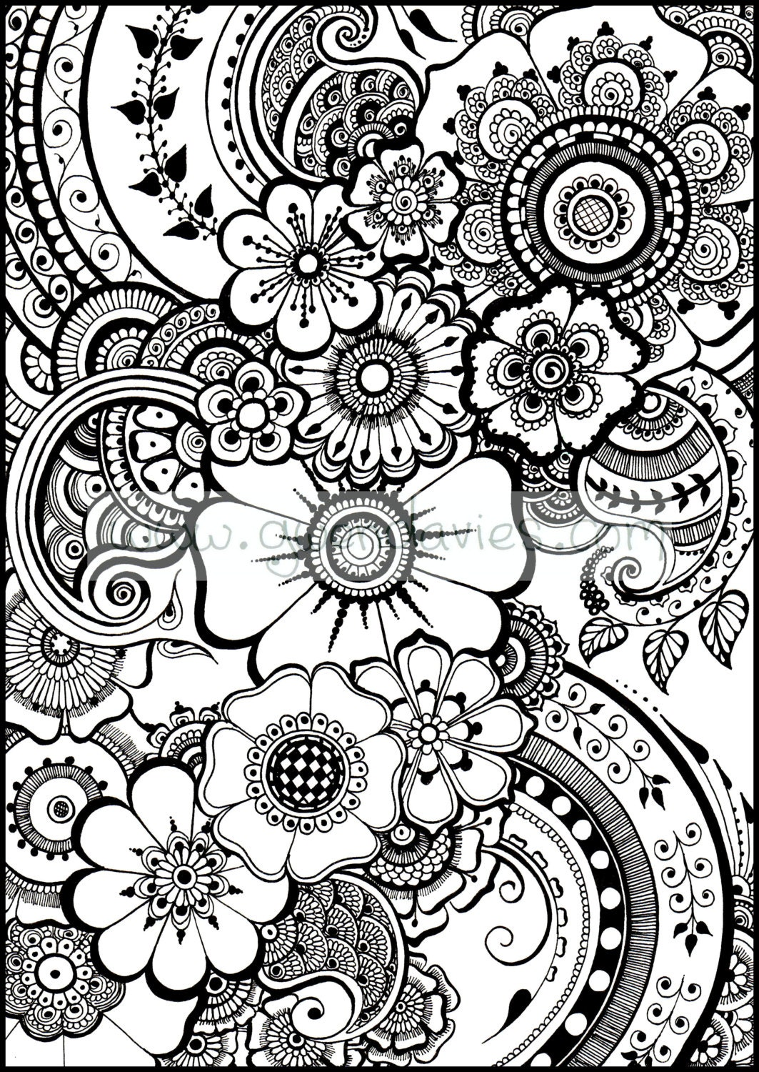 Coloring pages henna -  Zoom