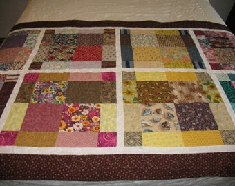 Quilted Patchwork Bed Runner or Toe Warmer