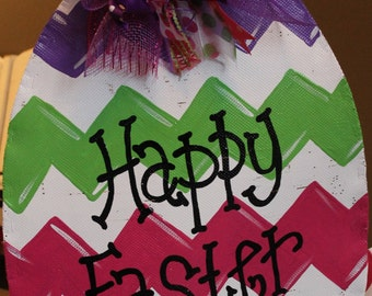 Chevron Easter Egg Door Decor
