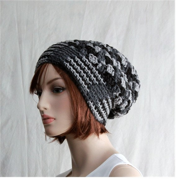 crochet womens hat slouchy beanie unique by endlesscreation
