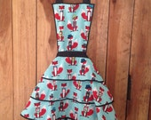 Hot Chick Aprons 50s vintage style fox apron