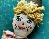Clown Doll Head Vintage Clown Head Toy Parts Yarn Hair Doll Supplies Clown Doll