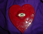 Ceramic heart with all seeing eye
