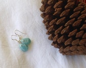 Pretty Larimar earrings Blue jewelry gifts for her cyber Monday Etsy Aquamarine jewelry