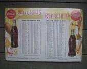 Vintage Coca Cola 1953 Georgia Tech/ Notre Dame Alphabetical Roster - Free Shipping