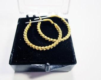Gold Filled Hoop Earrings  No.22