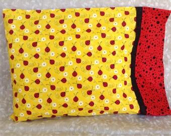 Lady bug Travel Pillowcase