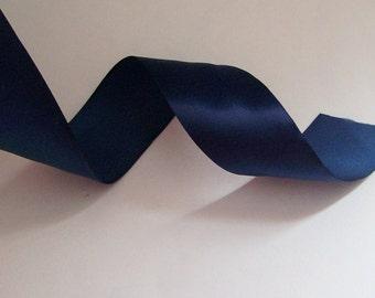 1.5 inch Wide Navy Blue Satin Ribbon 5 yard length Free Shipping!