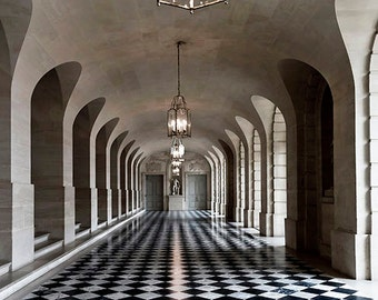 Versailles Photos, Architecture Prints, Black, White, Beige, Neutral, Palace Versailles, Architecture Art