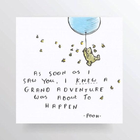 funny valentines day quotes for girlfriend - Pooh Bear niedliche Zitat hand geschrieben hand